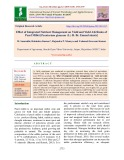 Effect of integrated nutrient management on yield and yield attributes of pearl millet [pennisetum glaucum (L.) R. Br. Emend stuntz]Effect of integrated nutrient management on yield and yield attributes of pearl millet [pennisetum glaucum (L.) R. Br. Emend stuntz]