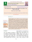 Water requirement of sugarcane using CROPWAT 8.0 model: A case study of north India