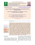 Impact of tillage and residue management on sustainable food and nutritional security