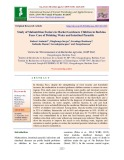 Study of malnutrition factors in market gardeners children in Burkina Faso: Case of drinking water and intestinal parasitic