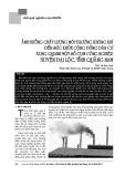 Ảnh hưởng chất lượng môi trường không khí đến sức khỏe cộng đồng dân cư xung quanh một số cụm công nghiệp huyện Đại Lộc, tỉnh Quảng Nam