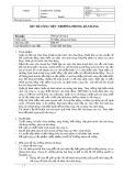 Mô tả công việc Trưởng phòng bán hàng (đại lý)