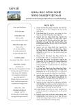 Tạp chí Khoa học Công nghệ Nông nghiệp Việt Nam: Số 9/2018