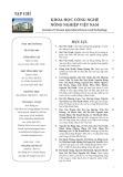 Tạp chí Khoa học Công nghệ Nông nghiệp Việt Nam: Số 6/2018