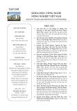 Tạp chí Khoa học Công nghệ Nông nghiệp Việt Nam: Số 5/2018