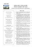 Tạp chí Khoa học Công nghệ Nông nghiệp Việt Nam: Số 7/2018