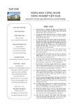 Tạp chí Khoa học Công nghệ Nông nghiệp Việt Nam: Số 10/2018