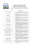 Tạp chí Khoa học Công nghệ Nông nghiệp Việt Nam: Số 8/2018