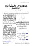Giải mã tín hiệu 4-QAM phục vụ truyền nhận tín hiệu quang sử dụng FPGA