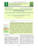 Effect of irrigation levels and cropping systems on quality parameters and economics of pigeonpea
