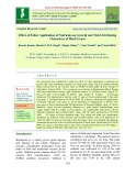 Effect of foliar application of nutrients on growth and yield attributing characters of black gram