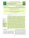 Dynamics of transition metal and their application in biomedical industry