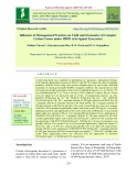 Influence of management practices on yield and economics of compact cotton grown under HDPS in irrigated ecosystem