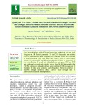 Quality of wax esters, alcohol and cuticle formation in drought tolerant and drought sensitive wheats (Triticum aestivum) under unfavourable temperature and radiation conditions for growth and development