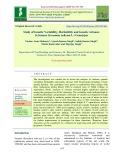 Study of genetic variability, heritability and genetic advance in sesame (Sesamum indicum L.) genotypes