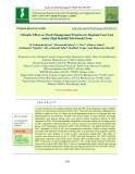 Climatic effect on weed management practices in elephant foot yam under high rainfall sub-humid zone