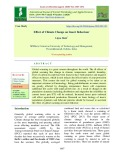 Effect of climate change on insect behaviour