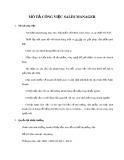 Mô tả công việc Sales Manager