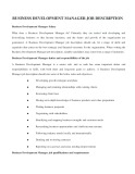 Business Development Manager job description