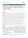 Healthcare cost of type 1 diabetes mellitus in new-onset children in a hospital compared to an outpatient setting