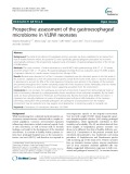 Prospective assessment of the gastroesophageal microbiome in VLBW neonates
