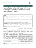 Neonatal extravasation injury: Prevention and management in Australia and New Zealand-a survey of current practice