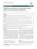 Facilitators and barriers to screening for child abuse in the emergency department
