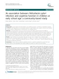 An association between Helicobacter pylori infection and cognitive function in children at early school age: A community-based study