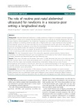 The role of routine post-natal abdominal ultrasound for newborns in a resource-poor setting: A longitudinal study