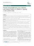 Human immunodeficiency virus infection and cerebral malaria in children in Uganda: A case-control study