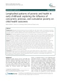 Longitudinal patterns of poverty and health in early childhood: Exploring the influence of concurrent, previous, and cumulative poverty on child health outcomes