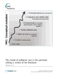 The model of palliative care in the perinatal setting: A review of the literature