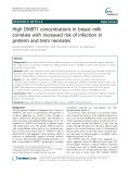 High DMBT1 concentrations in breast milk correlate with increased risk of infection in preterm and term neonates