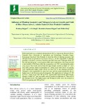 Influence of planting geometry and nitrogen levels on growth and yield of rice (Oryza sativa L.) under eastern uttar pradesh condition