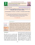 Evaluation of the rice establishment methods for higher productivity and profitability under dry seeded condition