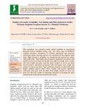 Studies on genetic variability, correlation and path analysis in yellow pericarp sorghum [sorghum bicolor (L.) Moench] genotypes