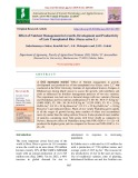 Effect of nutrient management in growth, development and productivity of late transplanted rice (Oryza sativa L.)