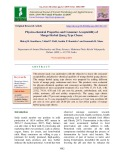Physico-chemical properties and consumer acceptability of mango herbal Quarg type cheese