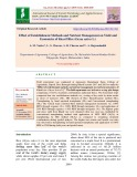 Effect of establishment methods and nutrient management on yield and economics of Kharif rice (Oryza sativa L.)