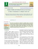 Adoption of health and nutritional practices by farm women