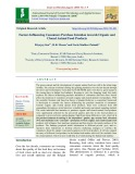 Factors influencing consumers purchase intention towards organic and cloned animal food products