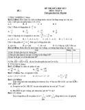 Bộ 20 đề thi giữa học kì 2 môn Toán lớp 6