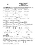 Bộ 19 đề thi giữa học kì 2 môn Toán lớp 8