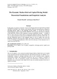 The dynamic market-derived capital pricing model: Theoretical foundations and empirical analysis