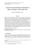Consumer protection in banking: investigating the 10 high level principles of G20 in Saudi Arabia