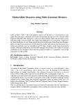 Market risk measures using finite Gaussian mixtures