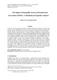 The impact of intangible assets on financial and governance policies: A simultaneous equation analysis