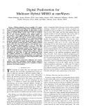 Digital predistortion for multiuser hybrid MIMO at mmWaves