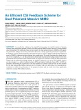 An efficient CSI feedback scheme for dual-polarized massive MIMO