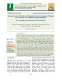 Molecular genetic diversity and population structure analysis in chickpea (Cicer arietinum L.) germplasm using SSR markers